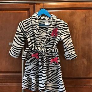 Komar Kids Other - Girls zebra print bathrobe