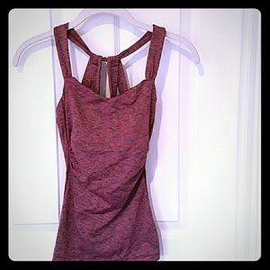 PrAna XS tank top with shelf bra
