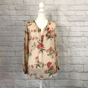 Joie Tops - Joie silk blouse roses floral size large