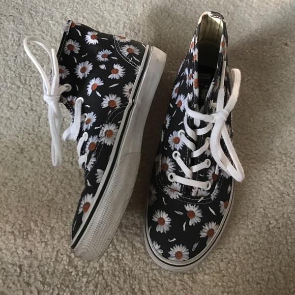 Vans Shoes | Sunflower High Top Vans