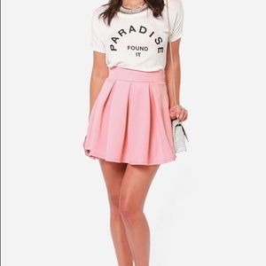 lulus Dresses & Skirts - Pink Pleated A-Line Skirt