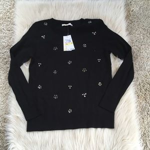 Front jeweled Michael kors sweater