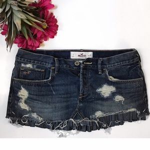 Distressed Jeans Mini Skirt