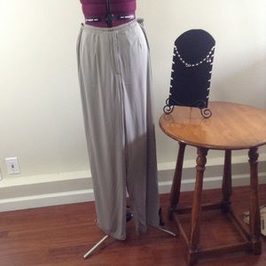 Eileen Fisher Taupe Silk Pant