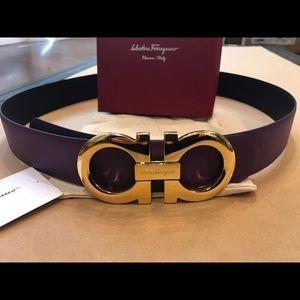 Salvatore Ferragamo Other - Salvatore Ferragamo Black/Purple Reversible Belt