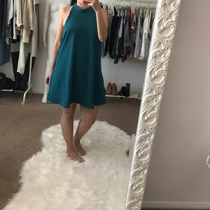 Lovers + Friends Dresses & Skirts - Lovers + Friends Teal A-Line Pocket Dress