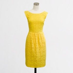 J.Crew Factory Dresses & Skirts - J. Crew Yellow Lace Dress