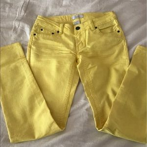 Lola Getts Active Denim - Lola Stretch Yellow Skinny Jean SZ 7