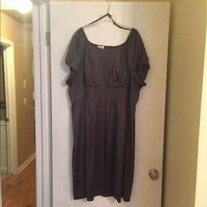 Gunmetal Silk Party Dress