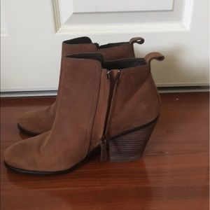 Cole Haan Shoes - Cole Haan Chesney Leather Ankle Booties, cognac
