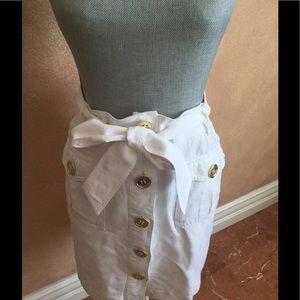Linen White Skirt