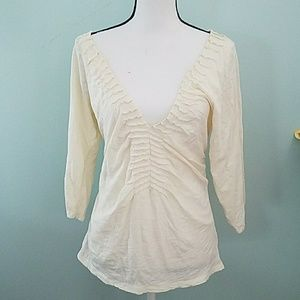 24th & Ocean Tops - ETT taia White knit summer top! Size Large