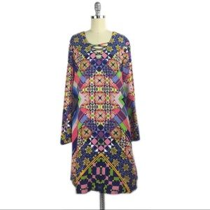 FINAL Indication by ECI Long Sleeve Shift Dress