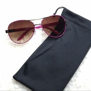 Other - 👑😎 Kids Aviators Fuchsia frame with amber lens