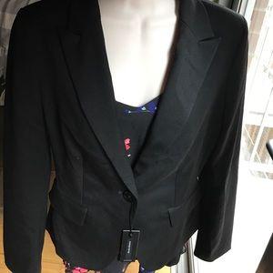 NWT Express Suit Jacket Blazer Black Sz 4