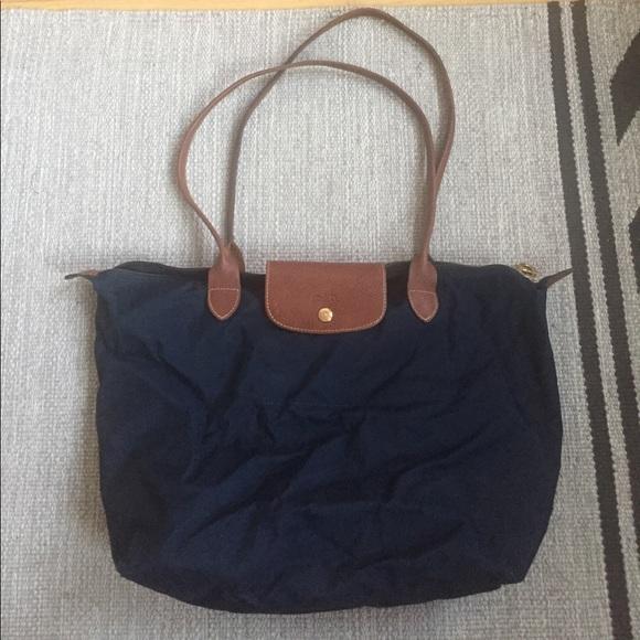 Longchamp Handbags - Longchamp Le Pliage Large Navy Tote 1dac6acfda72d