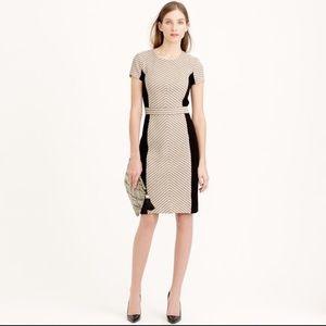 J. Crew Dresses & Skirts - Colorblock chevron dress in Italian tweed