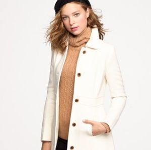 Cream Double-Cloth Lady Day Coat with Thinsulate