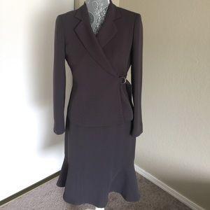 Kasper Other - Kasper Taupe Striped Petite Suit Set Size 2P