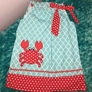 Other - Red Crab Pillowcase Dress