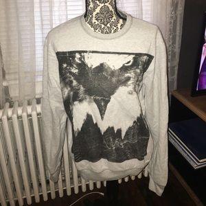 Eagle sweater gray soft