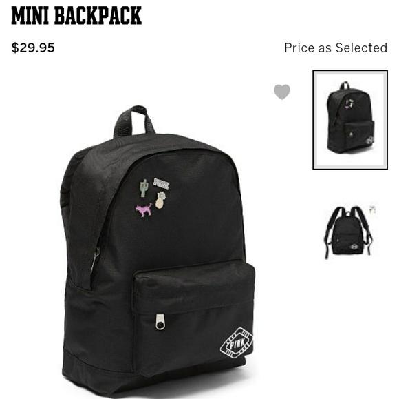 VS PINK mini backpack with logo pins 647db8f2b6a1a