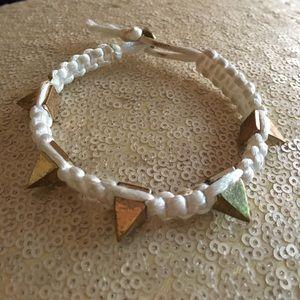 Jewelry - White Spike Bracelet