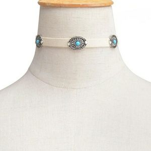 Jewelry - Concho Choker with Turquoise embellishments
