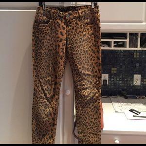 Denim - Leopard print jeans size 7