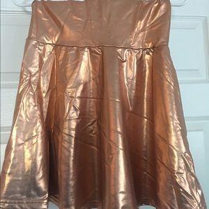 NWOT Metallic American Apparel Skirt