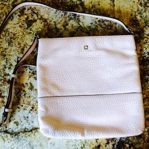 Pink Kate Spade New York crossbody leather bag
