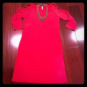 Pinkblush Tops - Red Pinkblush maternity tunic