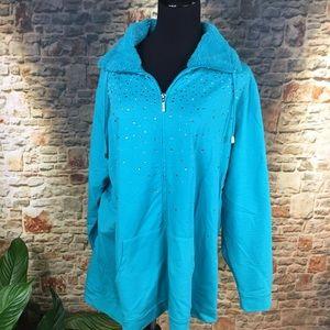 Quacker Factory Jackets & Blazers - Quacker Factory zip front jacket, plus size 2X