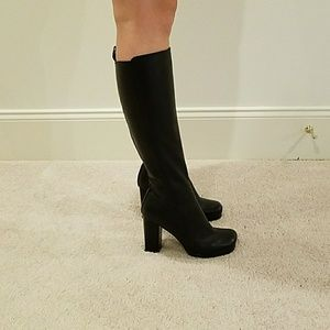 ALDO HIGH BLOCK HEEL LEATHER BOOT