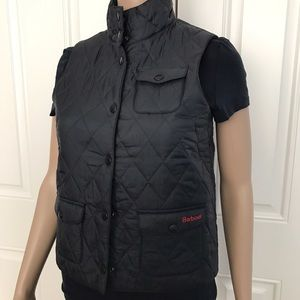 Barbour Other - NWT Girl's Barbour Quilted Vest Off Black L 10/11