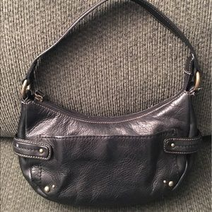 Fossil Handbags - Fossil Black Leather Hobo Handbag Purse