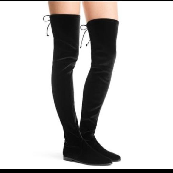 a6e2bc8452c NWOT Stuart Weitzman OTK Leggy Lady Velvet Boots