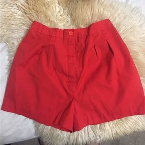 Sears Vintage High Waisted Red Shorts