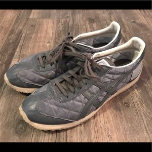 Onitsuka Tiger by Asics Shoes - Onitsuka Tiger M/9 W/10.5 Gray Quilted Shoes Asics