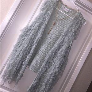 Junarose Jackets & Blazers - Junarose sz XXL mint green shaggy knit long vest