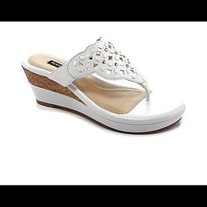 Alex Marie Shoes - Alex Marie new wedge sandal in cloud white color