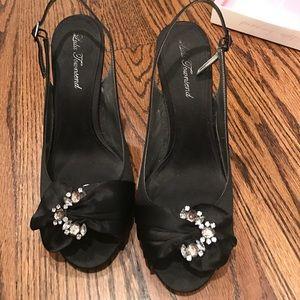Lulu Townsend Shoes - Lulu Townsend black luster heels
