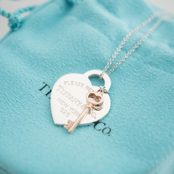 1ecb0e541 Tiffany & Co. Jewelry | Tiffany Co Heart Tag Rubedo Mini Key ...