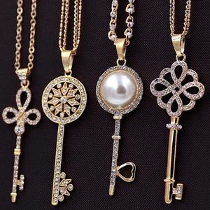 Accessory Collective Jewelry - QuikShip!! Key Necklace Silver or Gold Swarovski