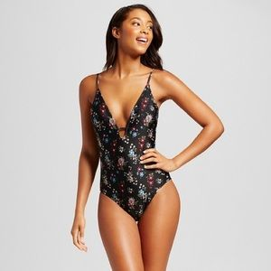 Fashion Union Other - Floral low back swimsuit