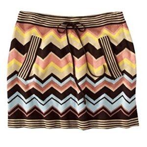 NWT Missoni for Target zig zag mini skirt