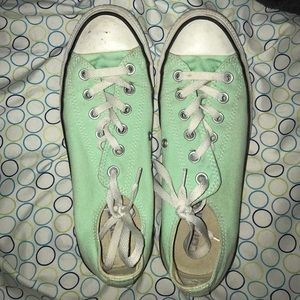 Mint Green Low Ride Converse