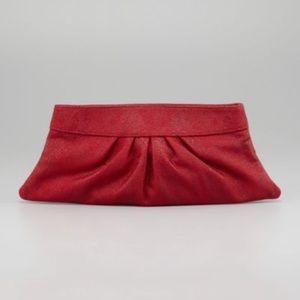 Lauren Merkin Handbags - Authentic Lauren Merkin red leather clutch