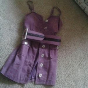 Dresses & Skirts - Purple bustier dress