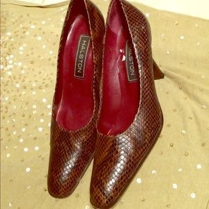 H by Halston Shoes - Oxblood Sneak skin style Vintage